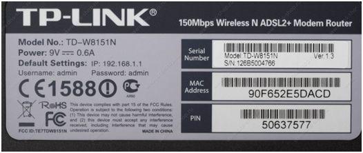Настройка роутера TP-Link TD-W8151N под Ростелеком