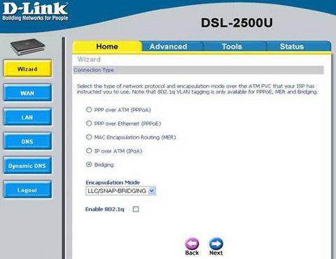 Настройка роутера D-Link DSL-2500U под Ростелеком